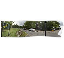 the refreshments area -(120811)- digital panorama photo Poster