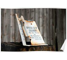 Rain Gauge On The Farm Poster
