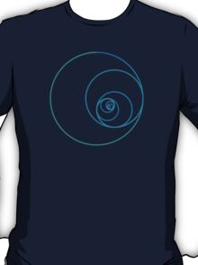Two Golden Ratio Spirals T-Shirt