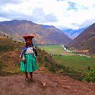 Peruvian Girl at Sacred Valley by Honor Kyne