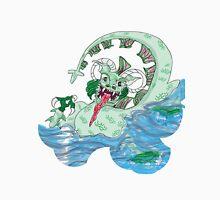 Larravide Japanese Monster White bckgrn Unisex T-Shirt