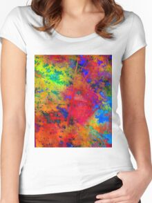 Color Freedom Women's Fitted Scoop T-Shirt