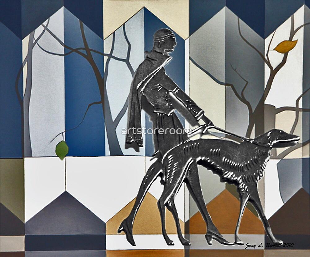 Walking The Dog by artstoreroom
