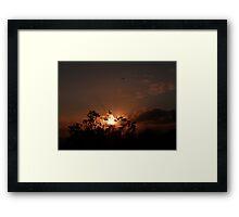 Porth Sunset Framed Print