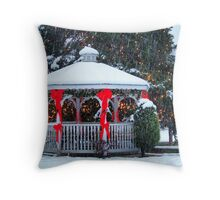 Small Town Christmas Throw Pillow