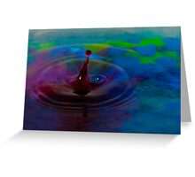 Colorful Liquid Drop Greeting Card