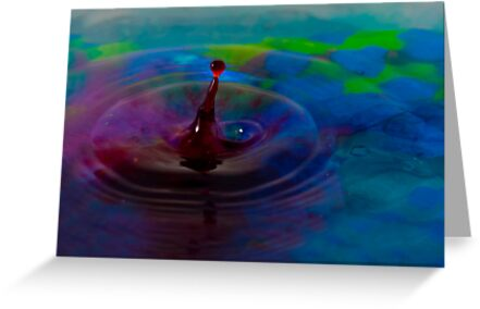Colorful Liquid Drop by Erika Montoya