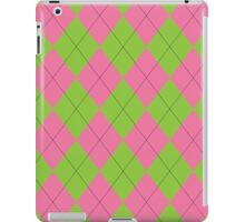 Pink and Green Argyle iPad Case/Skin