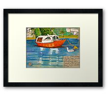 Red Boat North Freo Framed Print