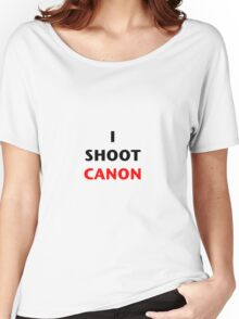 I Shoot Canon Women's Relaxed Fit T-Shirt