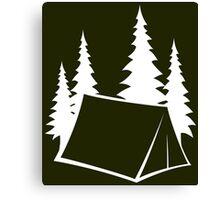 Camp Site - white Canvas Print