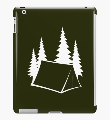 Camp Site - white iPad Case/Skin