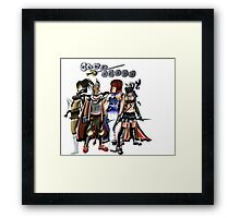Runescape four characters Framed Print