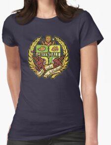 Donde Esta La Biblioteca Womens Fitted T-Shirt