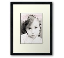 Sugar and Spice Eyes Framed Print