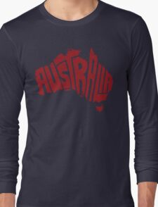 Australia Red Long Sleeve T-Shirt