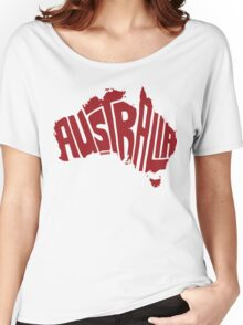 Australia Red Women's Relaxed Fit T-Shirt