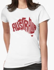 Australia Red Womens Fitted T-Shirt