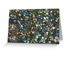 Textures - Path with coloured pebbles and mould Greeting Card