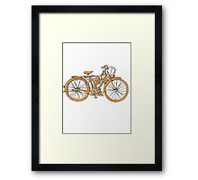Steam Punk Cycling Framed Print
