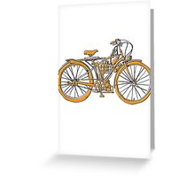 Steam Punk Cycling Greeting Card