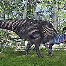 Parasaurolophus by Walter Colvin