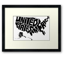 USA Black Framed Print