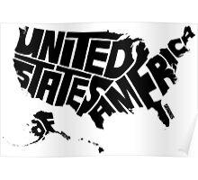 USA Black Poster