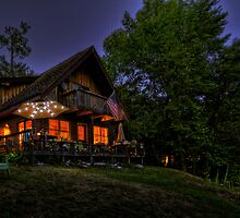 Camp JPEG at Night by Michael Schaefer