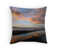 Sunrise Reflection in a tidal pool. Throw Pillow