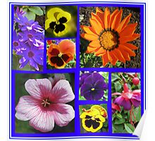 Singing of Summer - Floral Collage Poster