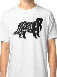 Golden Retriever Black Classic T-Shirt