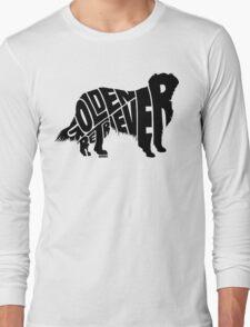 Golden Retriever Black Long Sleeve T-Shirt