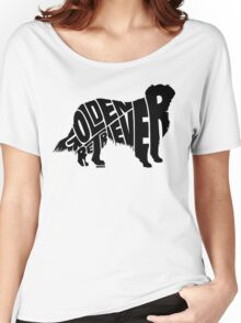 Golden Retriever Black Women's Relaxed Fit T-Shirt