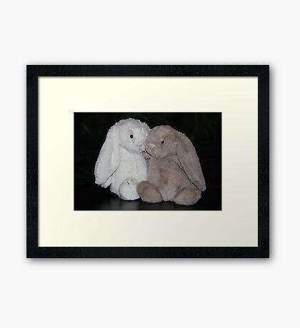 Bunny Snuggle Framed Print