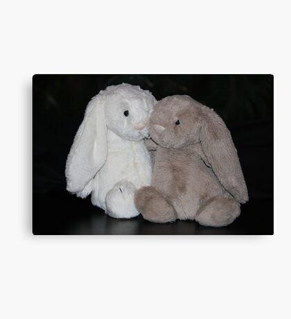 Bunny Snuggle Canvas Print