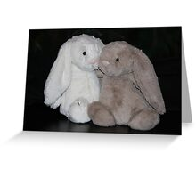 Bunny Snuggle Greeting Card