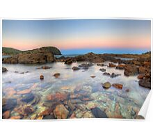 High Tide Rock Pools Poster
