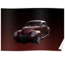 1940 Ford Custom Coupe Poster