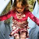 Running Down The Playground Slide by coffeebean