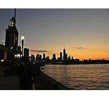 Navy Pier sunset Photographic Print