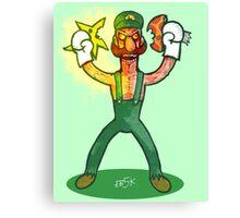 Luigi Lunacy Canvas Print