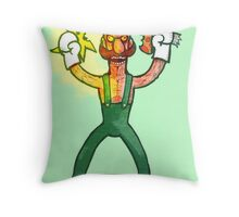 Luigi Lunacy Throw Pillow