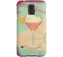50s Pink Martini Cheesecake Cocktail Samsung Galaxy Case/Skin