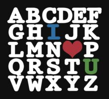 Alphabet I ♥ U by thomas1700