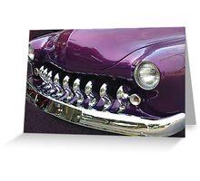 Purple and Chrome Dream Greeting Card