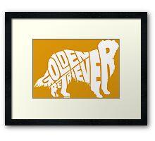 Golden Retriever White Framed Print