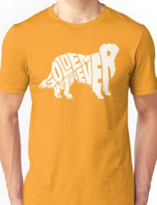 Golden Retriever White Unisex T-Shirt