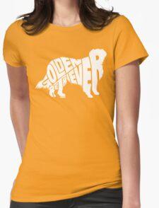 Golden Retriever White Womens Fitted T-Shirt