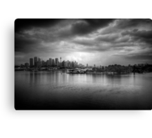 The Mood of a Cloudy City Canvas Print